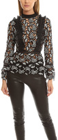 Self-Portrait Paisley Frilled Top