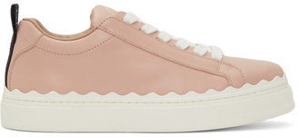 Chloé Pink Leather Lauren Sneakers