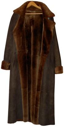 Sylvie Schimmel Brown Mongolian Lamb Coat for Women