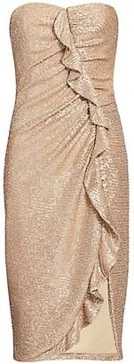 Jonathan Simkhai Strapless Sequin Midi Dress