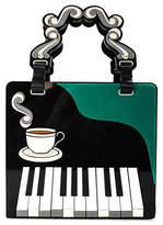 Yazbukey Black Resin Piano Coffee Satchel Handbag