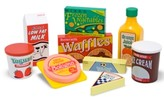 Melissa & Doug Toy, Wooden Fridge Food Set