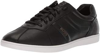 HUGO BOSS BOSS Orange Men's Rumba Leather Tennis Sneaker Construction Shoe