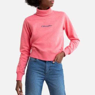 Champion Cotton Ribbed Turtleneck Sweatshirt with Embroidered Logo