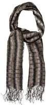 Missoni Metallic Knit Fringe-Trimmed Scarf