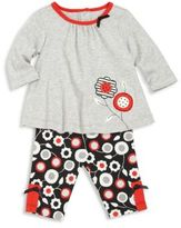 Offspring Baby's Two-Piece Floral Top and Pants Set