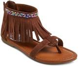 Stevies Girls' #HIPPIE Fringe Gladiator Sandal