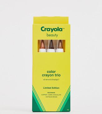 Crayola Colour Crayon Trio Heat Wave - Face Crayons-Multi
