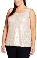 Evans Women's Shimmer Lace Front Tank Top