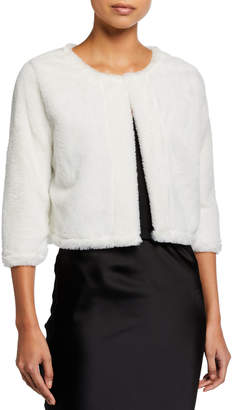 Calvin Klein Faux Fur Cropped Shrug