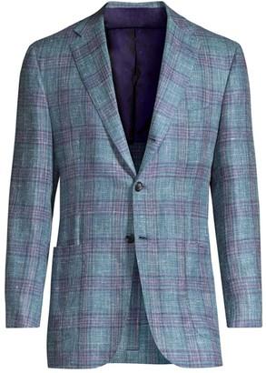 Kiton Plaid Wool Jacket