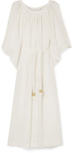 Lisa Marie Fernandez Linen-blend Gauze Maxi Dress