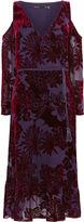 Karen Millen Velvet Devore Midi Dress - Purple/multi