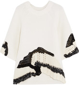 3.1 Phillip Lim Cable and open-knit sweater