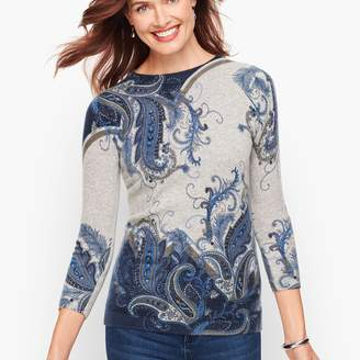 Talbots Cashmere Audrey Sweater - Feather Paisley