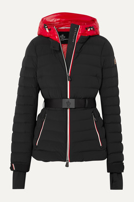 MONCLER GRENOBLE Bruche Belted Two-tone Quilted Ski Jacket - Black