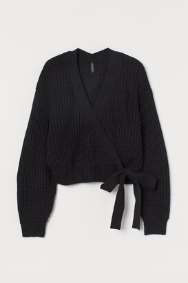 H&M Knitted wrapover jumper