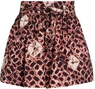 Ulla Johnson Willow Tie-Waist Cotton Shorts