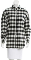 6397 Plaid Lori Button-Up Top w/ Tags