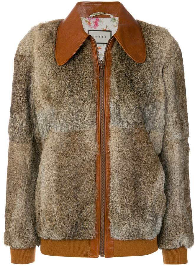 Gucci fur bomber jacket