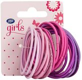 Boots kids thin ponyband pink & purple multipack
