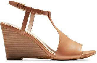 Cole Haan Maddie Leather T-Strap Wedge Sandals