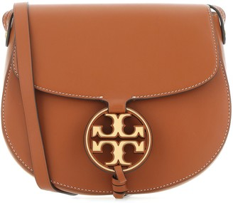 Tory Burch Miller Metal-Logo Saddlebag