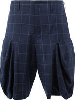 Comme des Garcons front flap tailored shorts