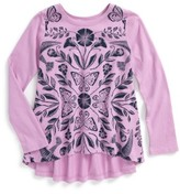 Tea Collection Toddler Girl's Marsh Violet Twirl Top