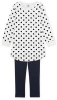 Petit Bateau Lou Polka Dot Night Shirt + Leggings