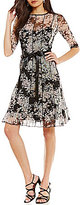 Jessica Howard Floral-Print Belted Dress