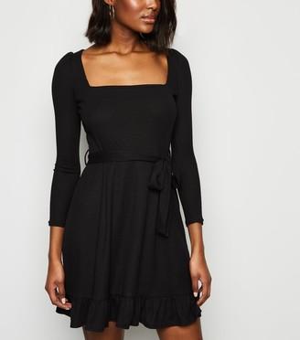 New Look Innocence Ribbed Mini Dress