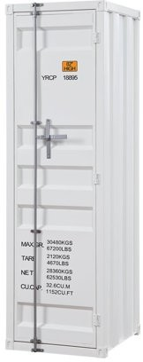 ACME Furniture Acme Cargo Container Style Metal Wardrobe with 1 Door, Multiple Colors