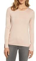 Women's Emerson Rose Cuff Detail Silk Blend Crewneck Sweater