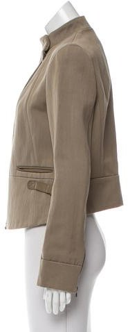 Vanessa Bruno Leather-Trimmed Long Sleeve Jacket w/ Tags