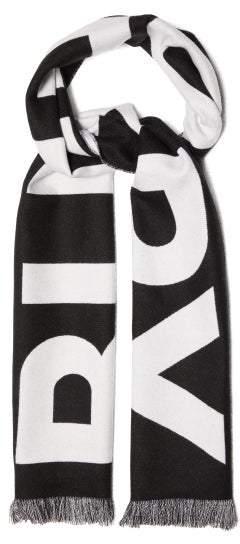 Burberry Logo-jacquard Wool Scarf - Mens - Black