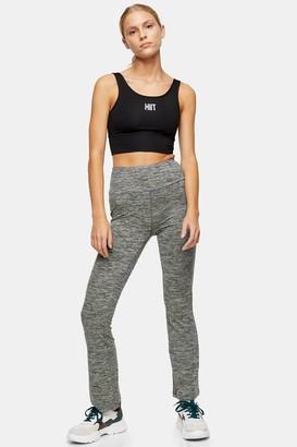 Womens Grey Kick Flare Leggings By Hiit - Grey