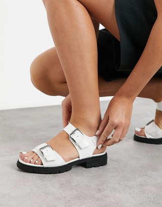 Vero Moda buckle sandals with chunky sole in white