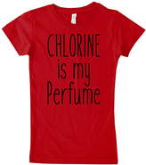 Micro Me Red 'Chlorine is my Perfume' Crewneck Tee - Toddler & Girls