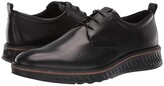 Ecco ST1 Hybrid Plain Toe Tie (Black) Men's Shoes