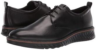 Ecco ST1 Hybrid Plain Toe Tie (Black) Men's Shoes
