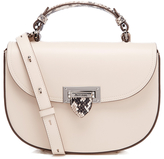 Aspinal of London Women's Letterbox Saddlebag Ivory/Natural
