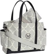 Pottery Barn Kids Gray Ikat Classic Diaper Bag