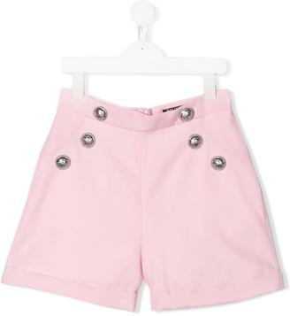 Balmain Kids TEEN high-rise buttoned shorts