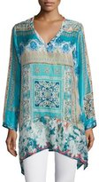 Johnny Was Chapman Long-Sleeve Printed Tunic, Plus Size