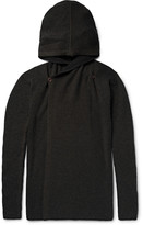 Rick Owens - Ribbed Cashmere-blend Hooded Cardigan