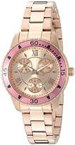 Invicta Women's 'Angel' Quartz Stainless Steel Watch, Color:Rose Gold-Toned (Model: 21774)