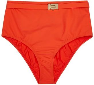Tory Burch T-Belt Red High-waisted Bikini Briefs
