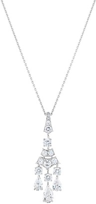 De Beers 18kt white gold Frost diamond pendant necklace