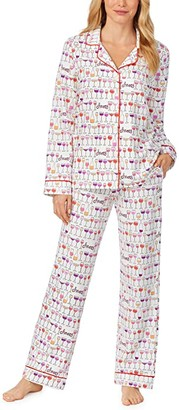 Bedhead Pajamas Long Sleeve Classic Notch Collar Pajama Set (Happy Hour) Women's Pajama Sets